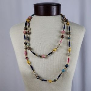 UpCycled Paper Bead Boho Necklace